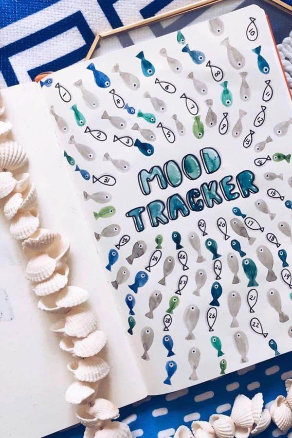 cute mood tracker ideas for august
