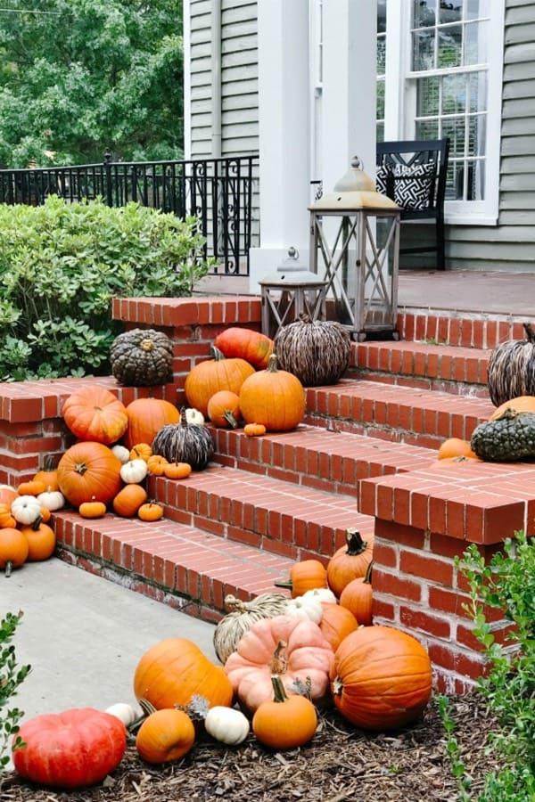 pumpkins for fall porch