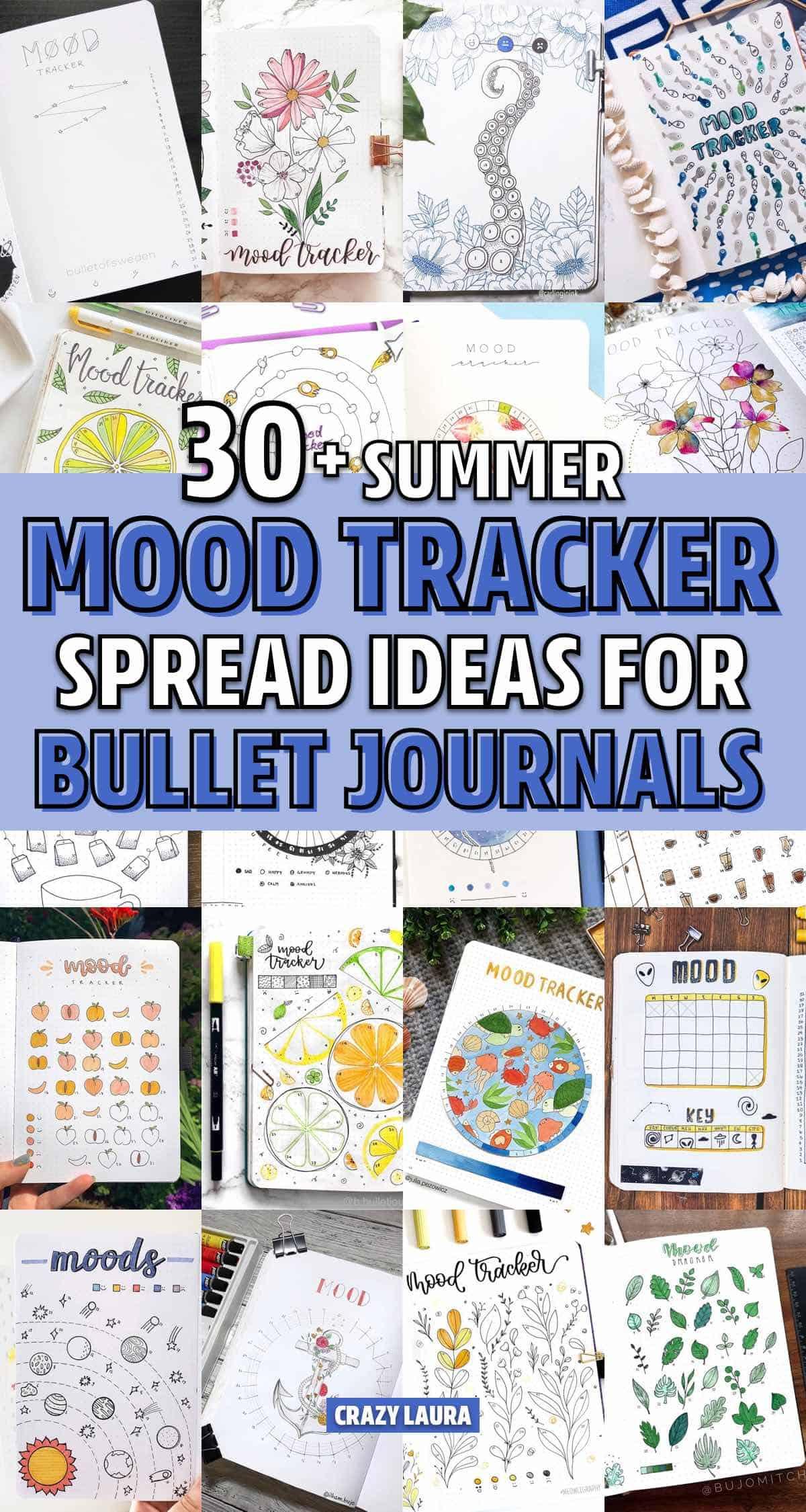 easy mood tracker ideas for summer