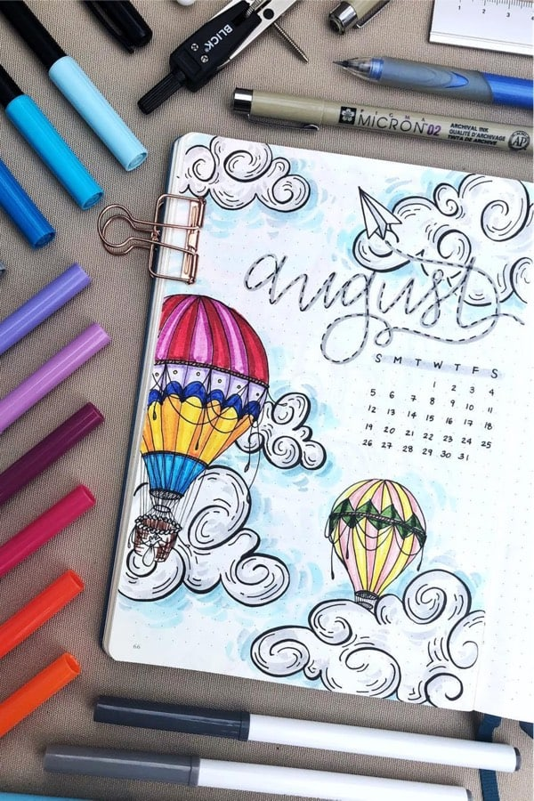 artsy monthly cover ideas for august