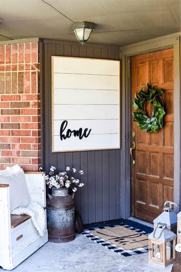rustic fall porch ideas