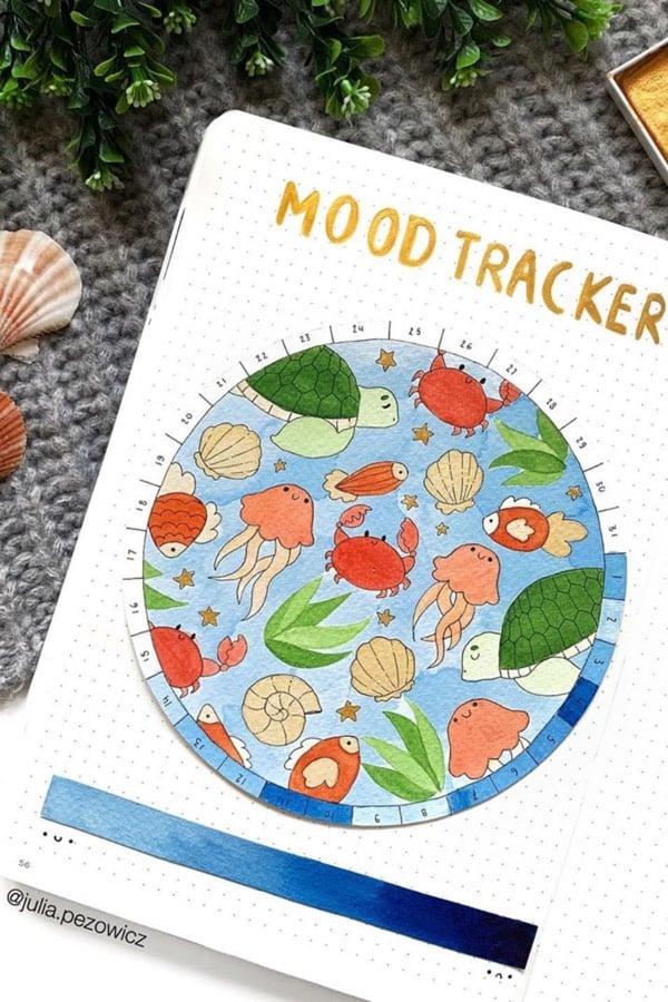 ocean mood tracker for august