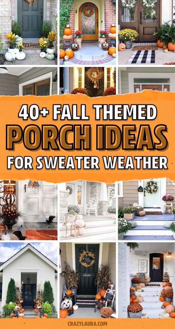 pumpkin filled porch inspiration