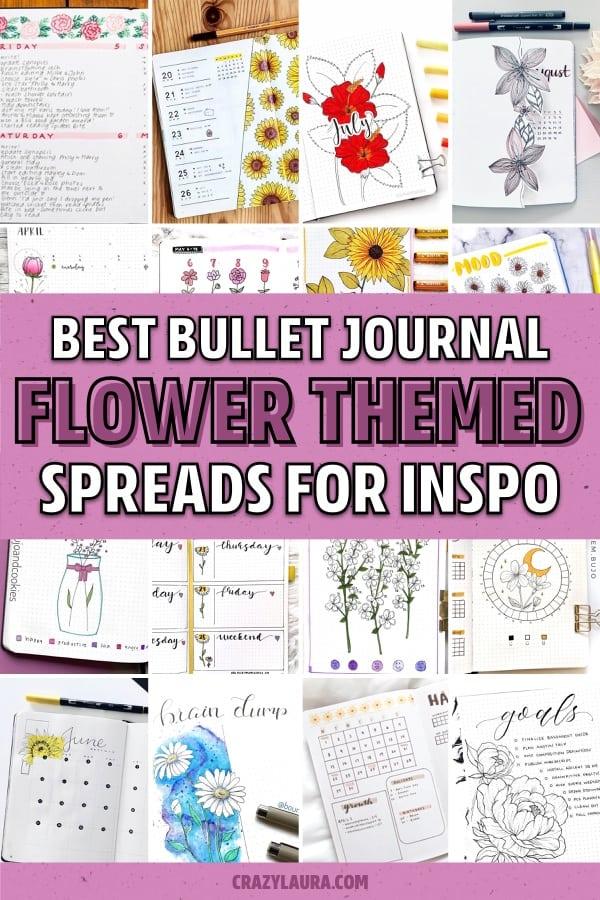 best flower ideas for bullet journal