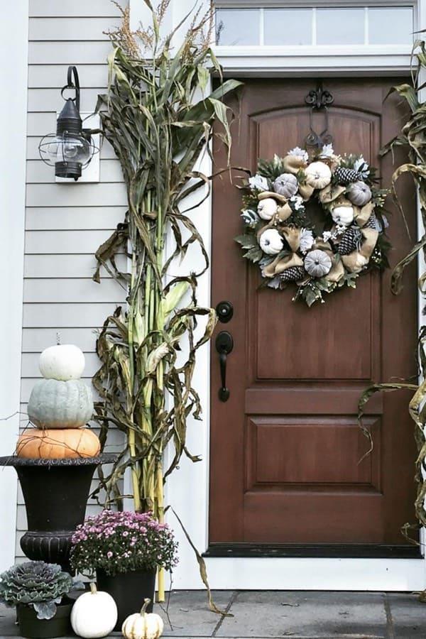 corn stalk ideas for front porch