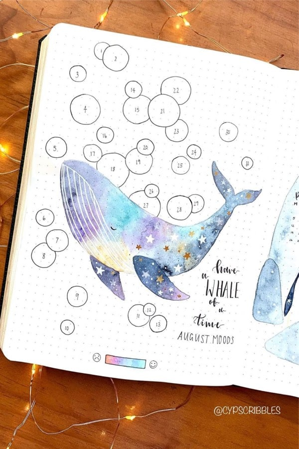 august mood tracker theme