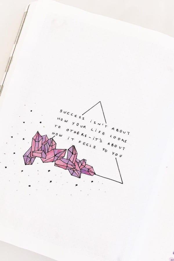 gem theme bullet journal quote