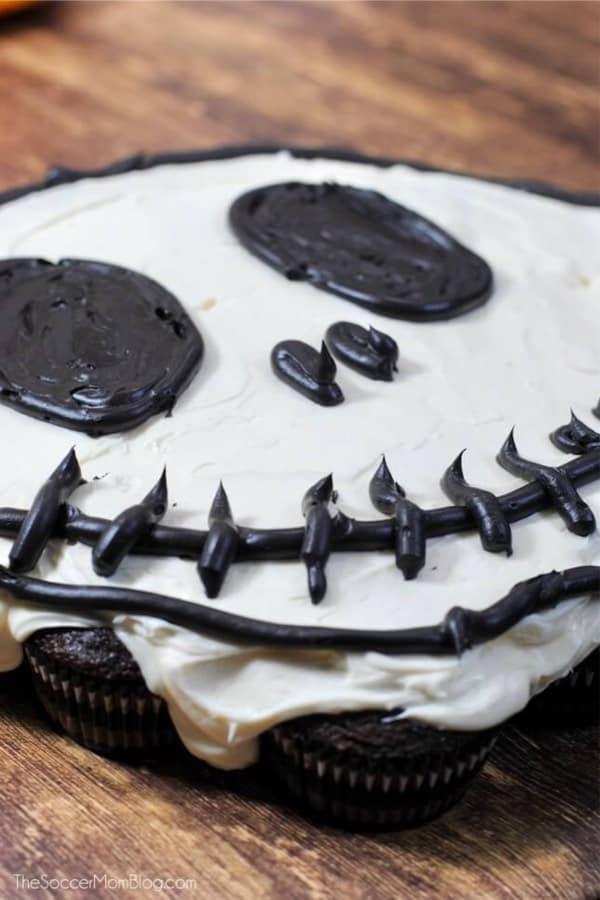 skeleton cupcake recipe idea