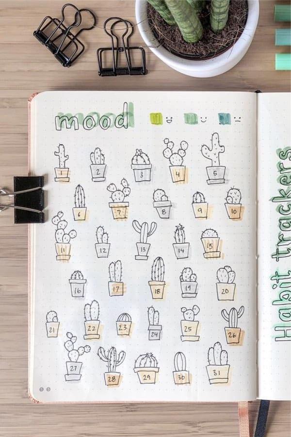 cute mood spread ideas for august
