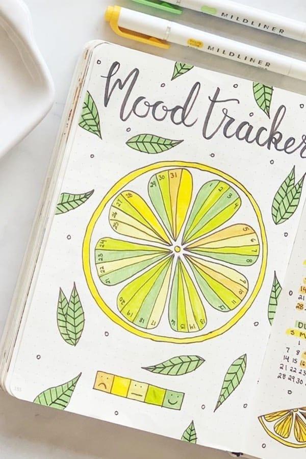summer themed mood tracker ideas