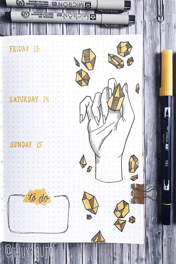 bullet journal gem theme