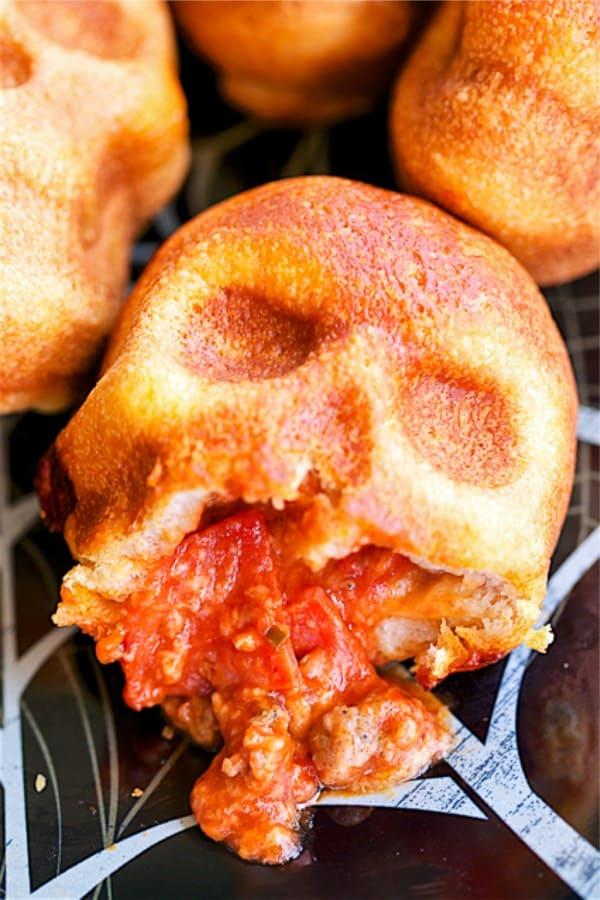 skull themed appetizer