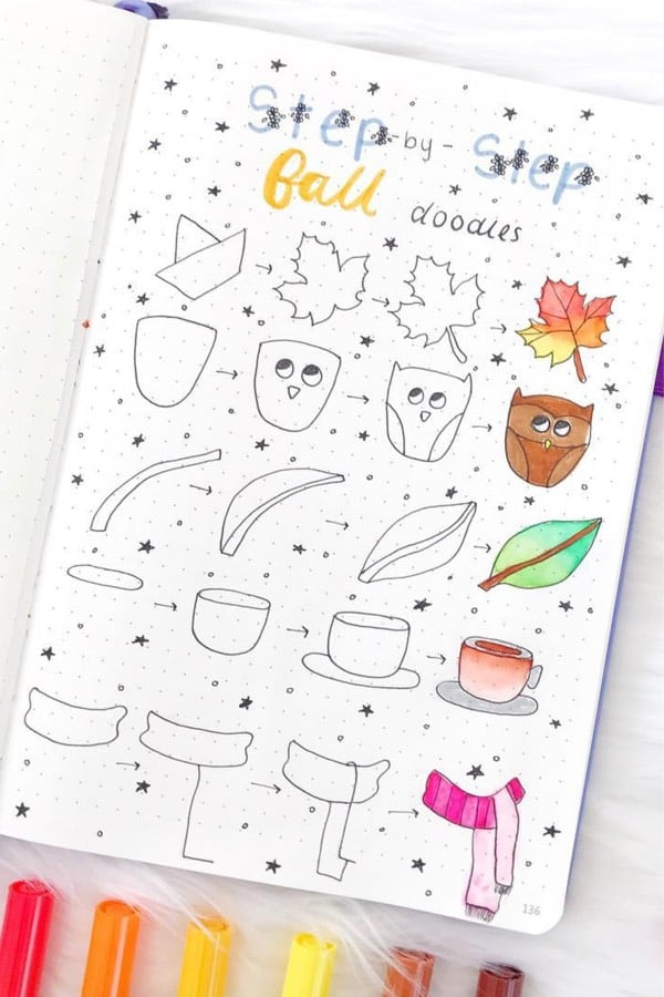 best bullet journal doodle ideas for fall