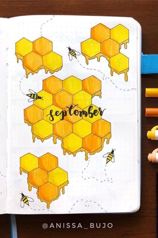 honey bee bujo cover idea