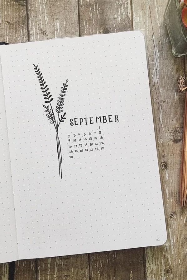 basic monthly cover spread for september