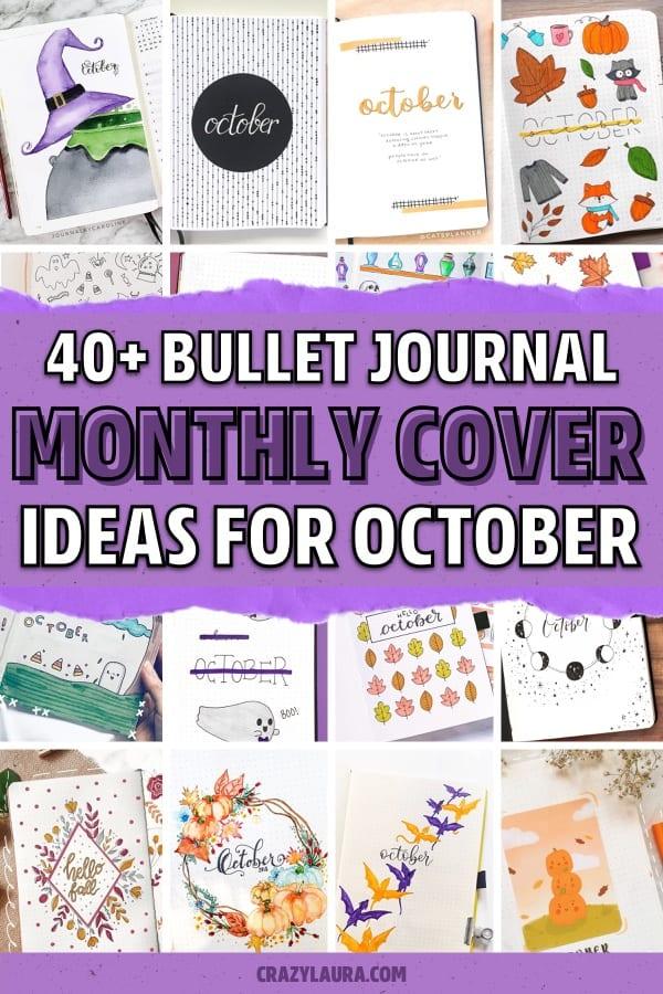 autumn cover spread ideas for bujos