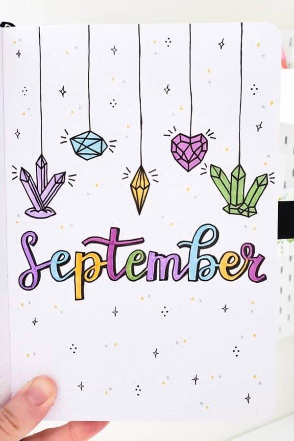gem themed cover for september