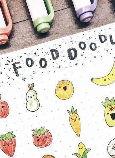 bullet journal food doodle examples
