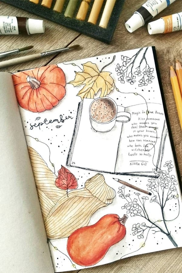 bullet journal theme for fall