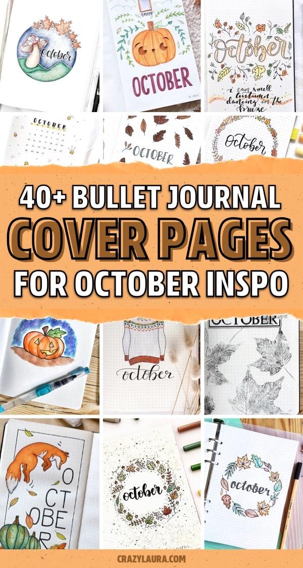 inspiration for october bullet journals