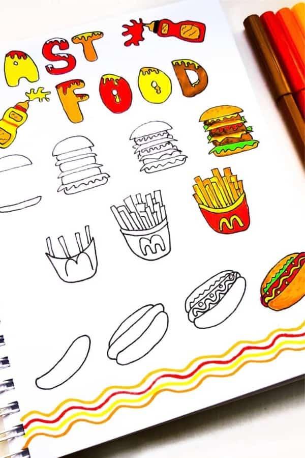 burger doodle ideas