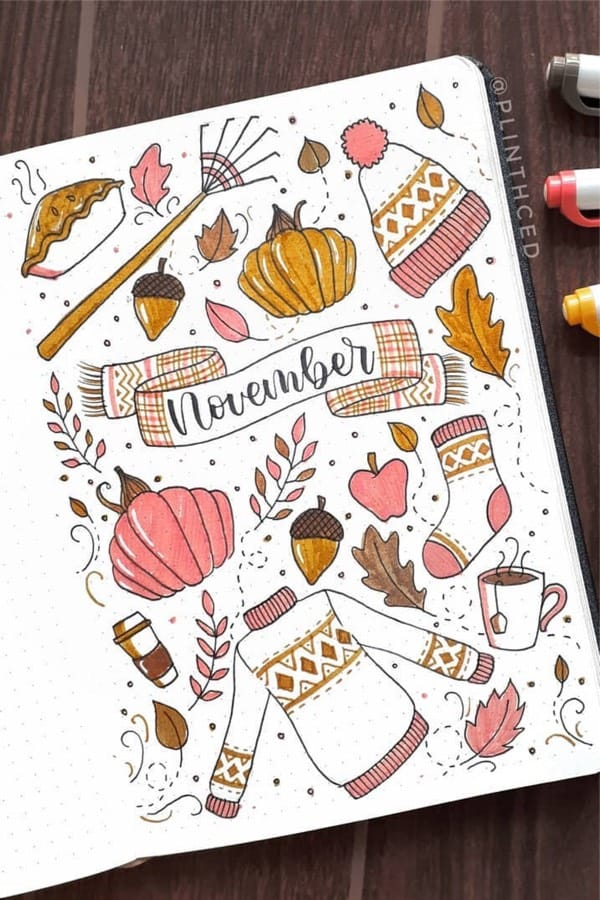 fall theme cover spread example