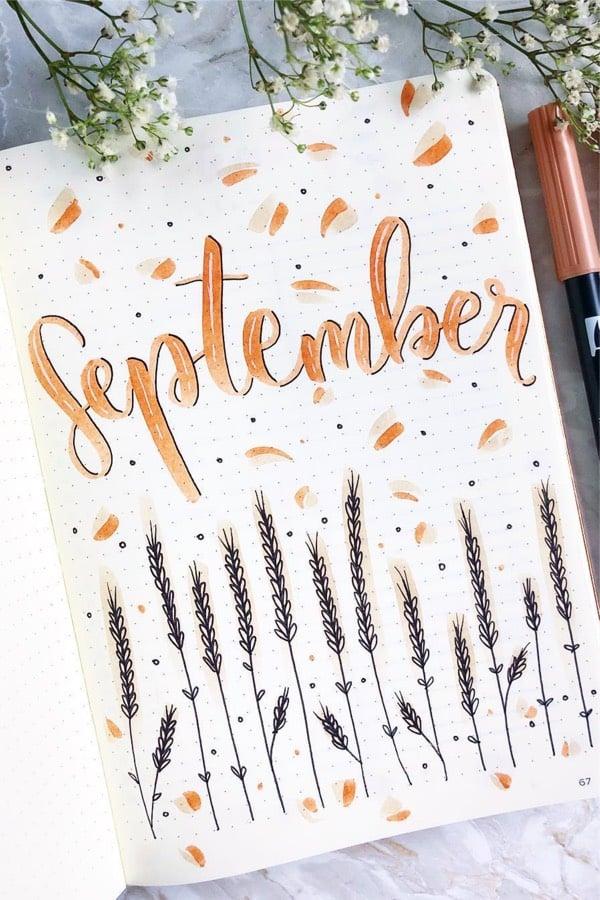 easy september monthly cover ideas