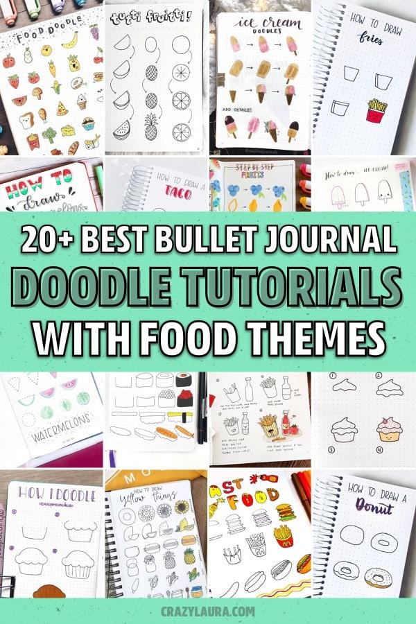 creative food drawings for bujo