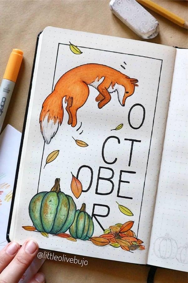 best monthly cover ideas for ocotober bujo