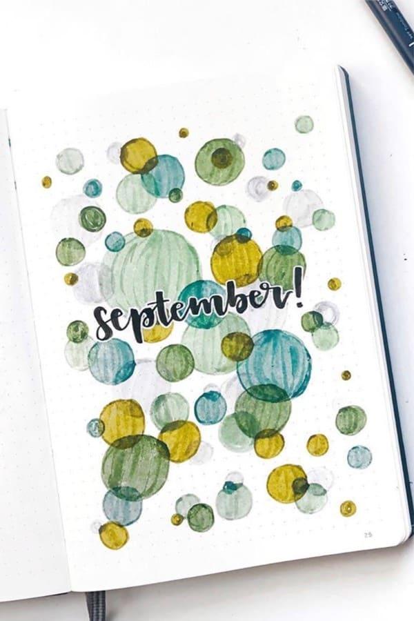 best examples for september bujo covers