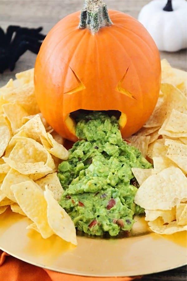 pumpkin guac plate