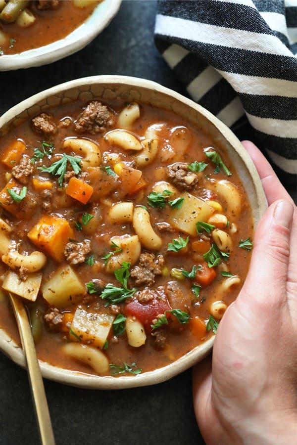 hamburger soup recipe for instant pot