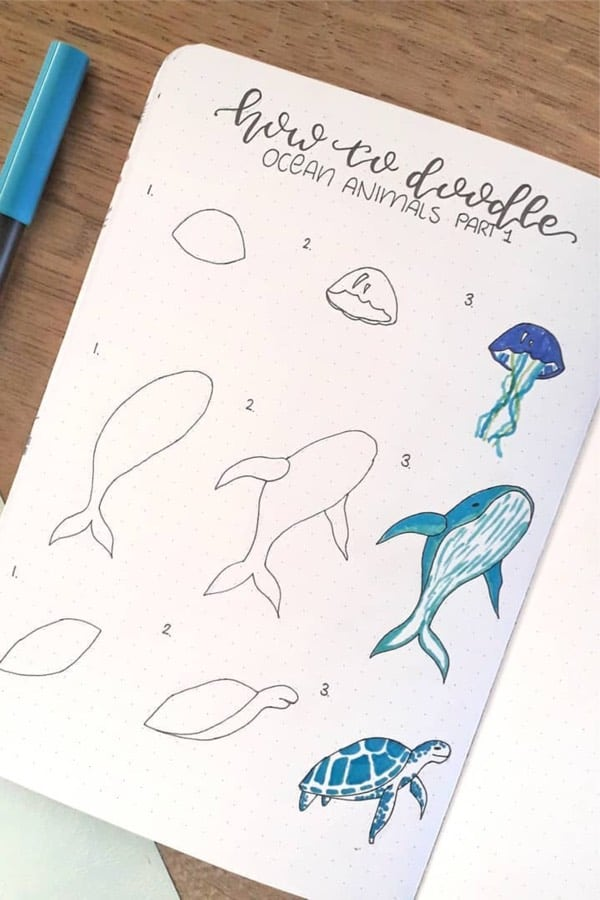 jellyfish doodle tutorial