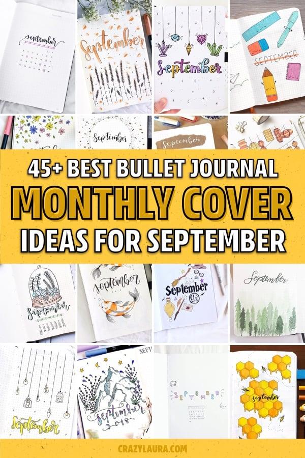 fall bujo cover page ideas