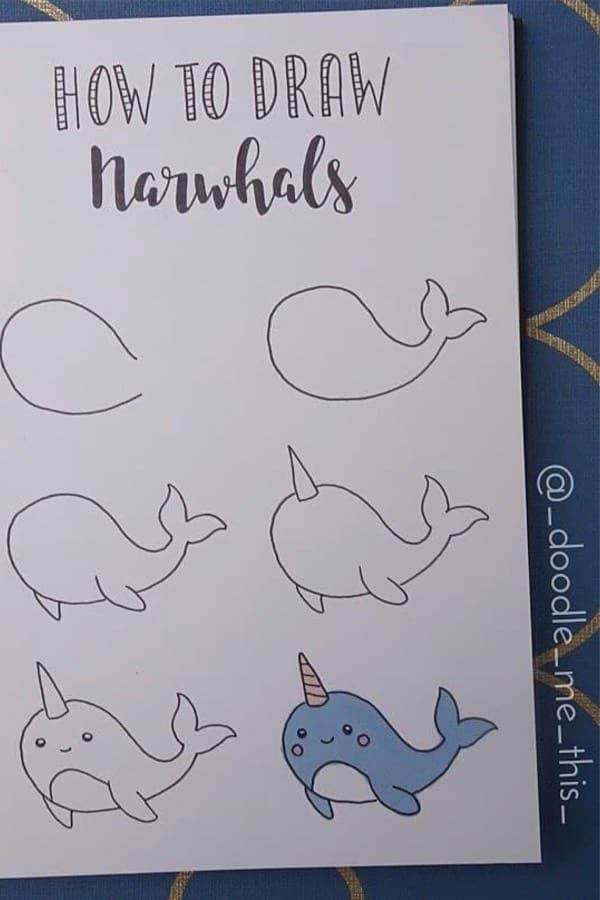 super cute ocean drawing for bujo