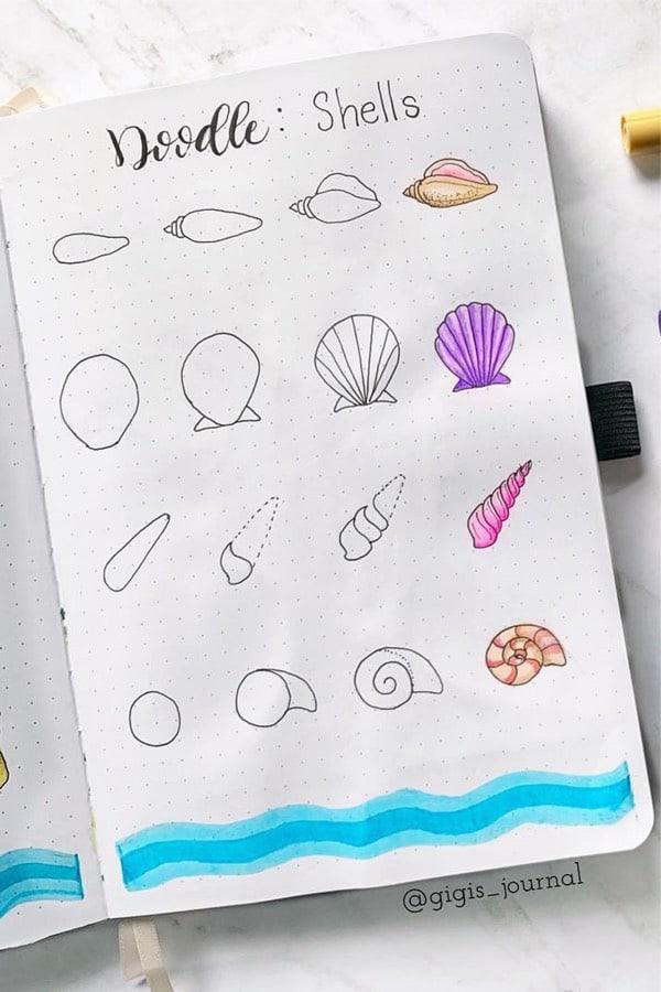 easy beach doodle tutorial