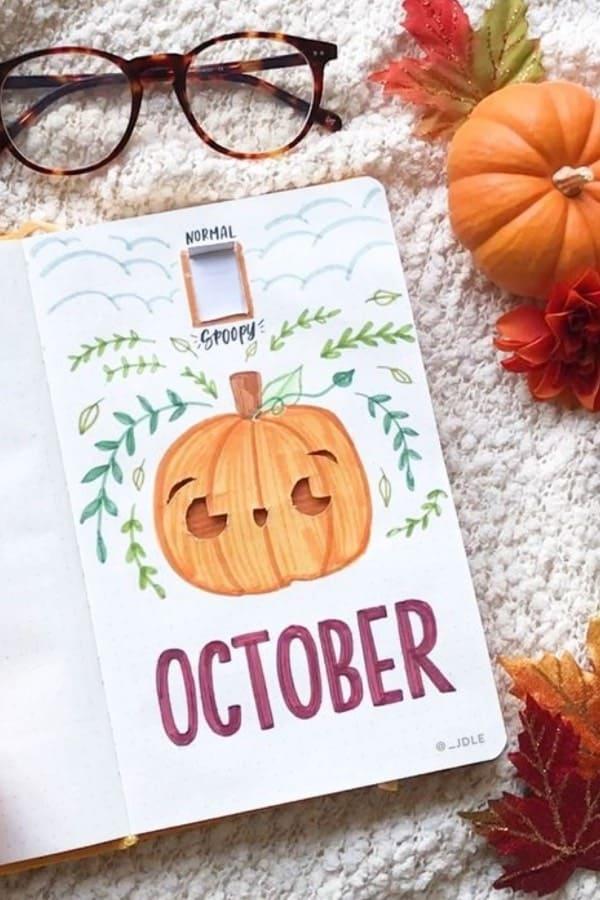 cute halloween themed bujo cover ideas