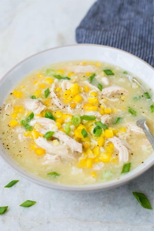 insta pot soup with corn