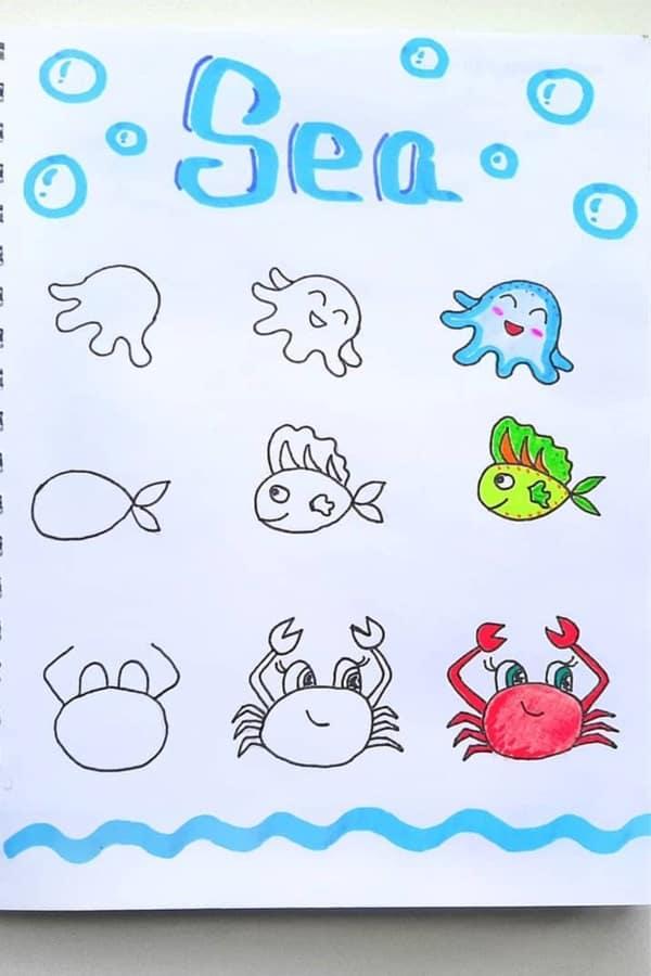 cute fish doodle ideas