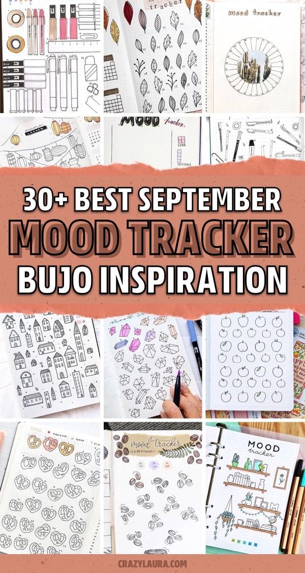 dot journal september mood spreads