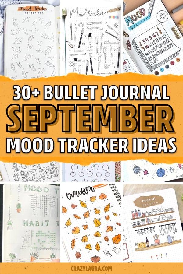 best mood tracker layouts for september