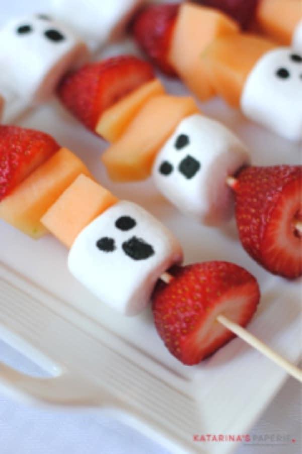festive fruit snack for halloween