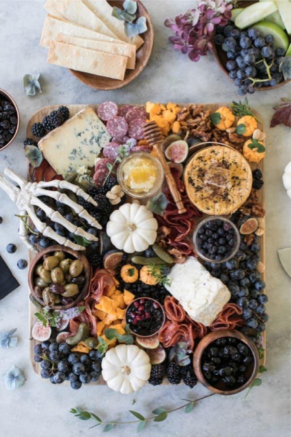 halloween cheese plate