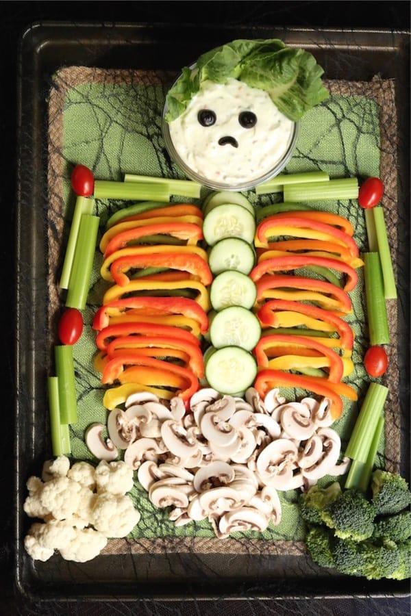 veggie tray for hallowen