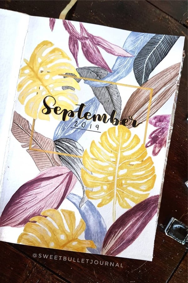 monthly cover layout ideas for fall
