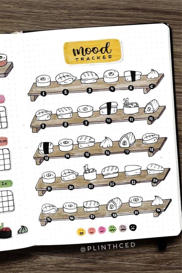 september doodle spread for tracker