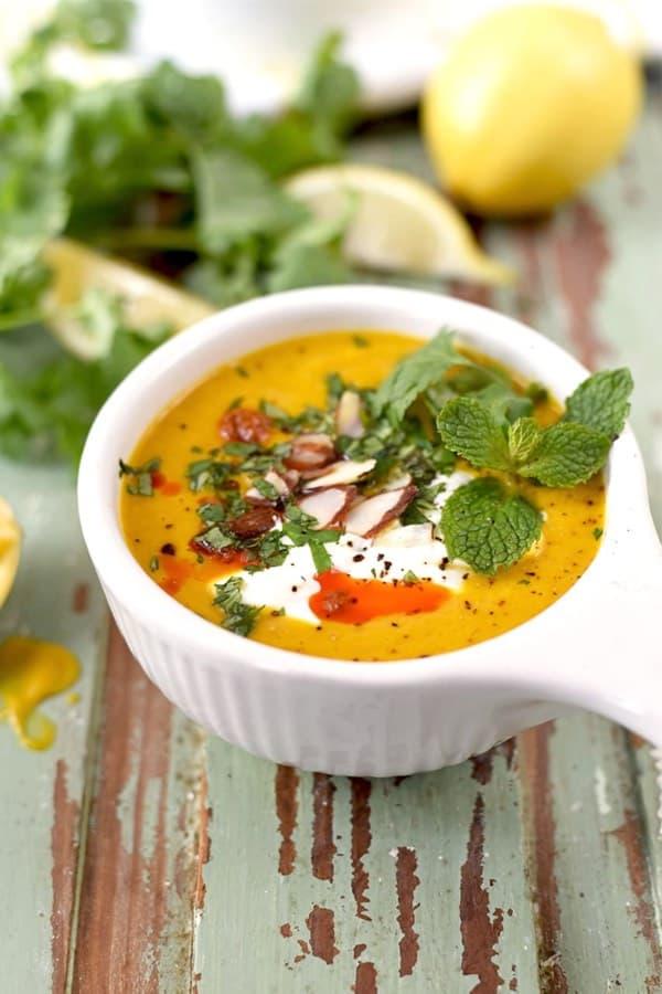 sweet potato soup recipe idea for instant pot