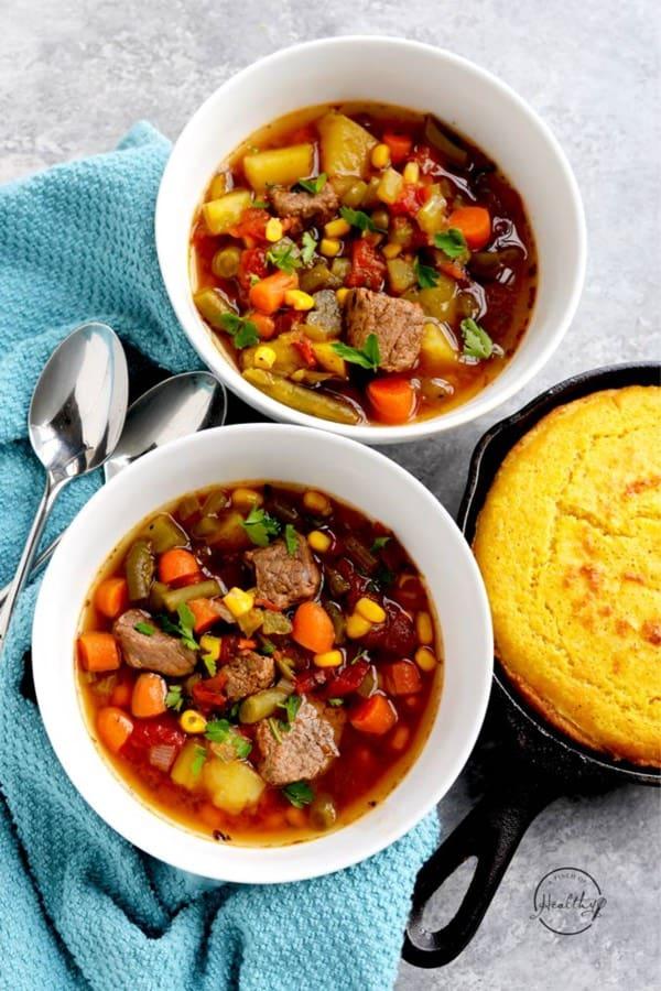 best veggie beef soup recipe for instant pot