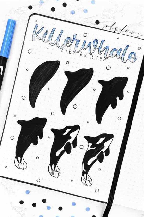best ocean doodle ideas for bullet journal