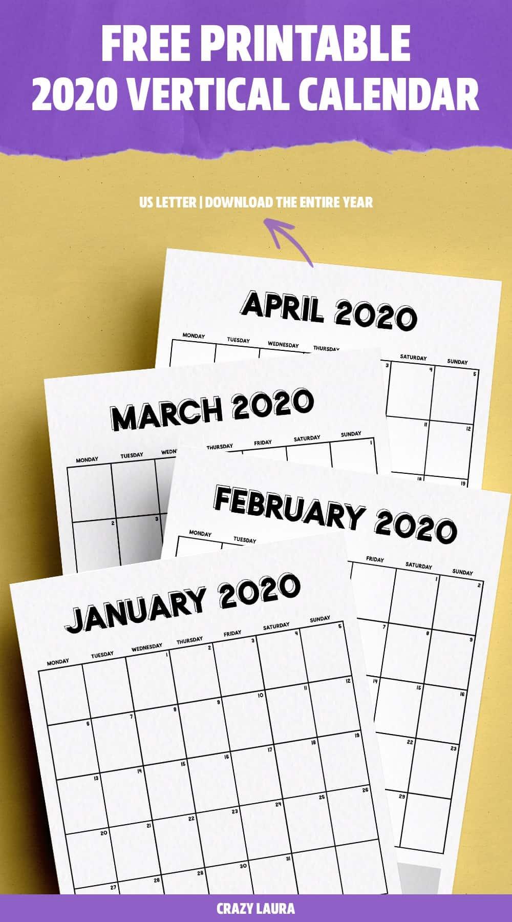 blank 2020 calendar template